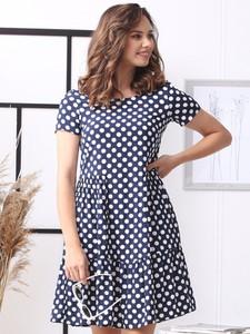 Sukienka Grandio z krótkim rękawem z tkaniny mini