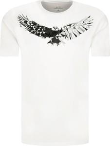 T-shirt Armani Exchange z nadrukiem w młodzieżowym stylu z krótkim rękawem