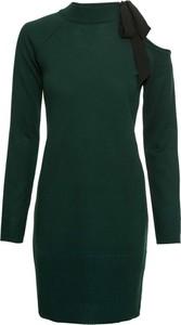 Zielona sukienka bonprix BODYFLIRT z szyfonu