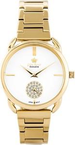 Zegarek GINO ROSSI E11148B-3D1 EXCLUSIVE (zg781b) - Złoty
