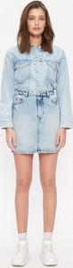 Niebieska spódnica House mini z jeansu