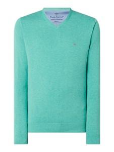 Miętowy sweter Fynch Hatton z bawełny