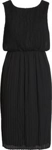 Czarna sukienka Vila mini z okrągłym dekoltem bez rękawów