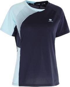 Granatowy t-shirt Artengo w młodzieżowym stylu