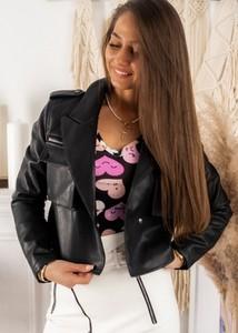 Czarna kurtka Fason w stylu casual krótka