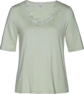 Bluzka bonprix z dekoltem w kształcie litery v z krótkim rękawem