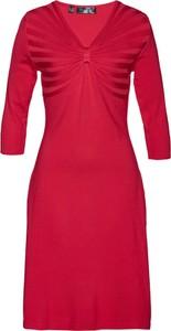 Sukienka bonprix bpc selection z długim rękawem mini z dzianiny