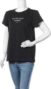 Czarna bluzka Bitte Kai Rand z okrągłym dekoltem w sportowym stylu