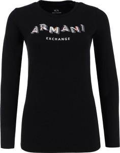Czarna bluzka Armani Jeans w stylu casual
