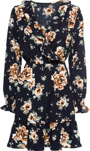 Sukienka bonprix BODYFLIRT z dekoltem w kształcie litery v w stylu casual midi