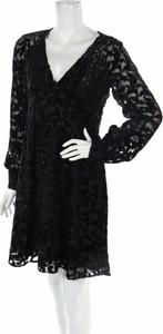 Czarna sukienka Michael Kors z długim rękawem mini
