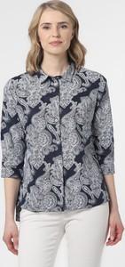Bluzka Franco Callegari z nadrukiem w stylu casual z lnu