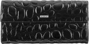 Czarny portfel Nicole ze skóry