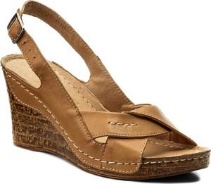 Brązowe sandały pollonus w stylu casual