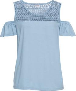 Niebieska bluzka bonprix bodyflirt