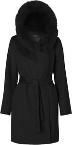 Czarny płaszcz Hollies z wełny