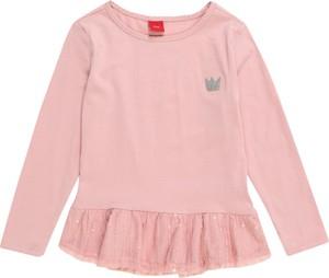 Różowa bluzka dziecięca S.Oliver Junior