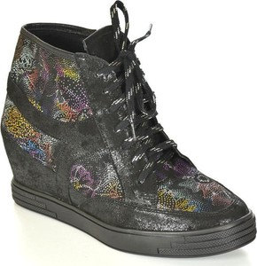 Silwano w-739 czarny śnieg/kwiaty sneakersy damskie