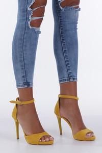 Żółte sandały Casu ze skóry ekologicznej