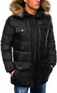 Czarna kurtka Ombre Clothing w stylu casual
