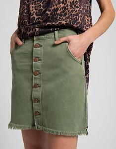 Zielona spódnica One Teaspoon mini w militarnym stylu