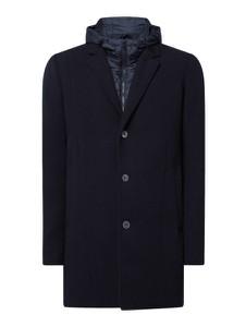 Granatowy płaszcz męski Tom Tailor Denim z wełny