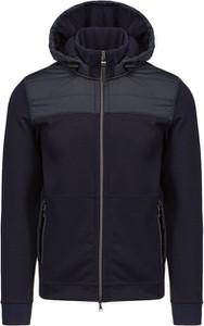 Granatowa kurtka Bogner krótka w stylu casual z wełny