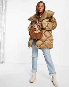 Brązowa kurtka Asos w stylu casual krótka