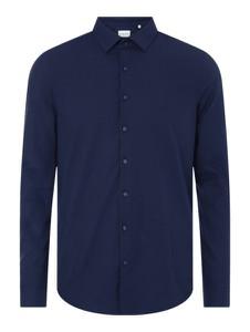 Granatowa koszula Calvin Klein w stylu casual z długim rękawem z bawełny