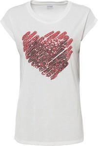 T-shirt bonprix z nadrukiem w młodzieżowym stylu z krótkim rękawem