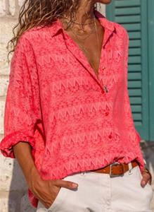 Czerwona bluzka Cikelly z długim rękawem w stylu casual
