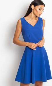 Niebieska sukienka Sheandher.pl bez rękawów mini
