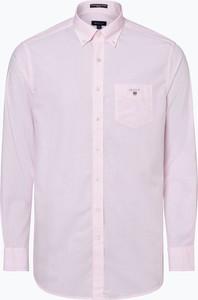 Różowa koszula Gant z kołnierzykiem button down z długim rękawem
