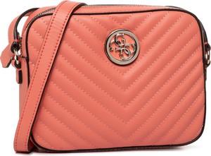 Różowa torebka Guess mała w stylu casual