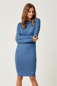 Niebieska sukienka Scui Studios z długim rękawem mini