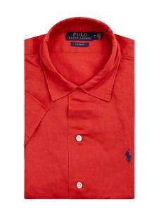 Czerwona koszula POLO RALPH LAUREN z klasycznym kołnierzykiem z bawełny