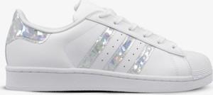 Trampki Adidas sznurowane superstar z płaską podeszwą