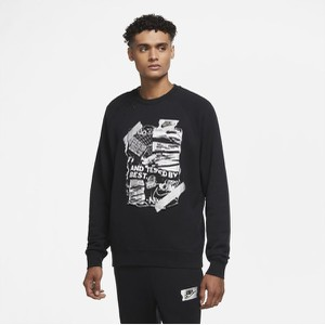 Czarna bluza Nike z plaru
