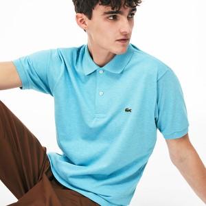 Błękitna koszulka polo Lacoste z krótkim rękawem