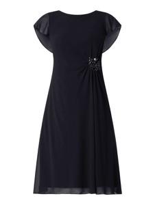 Sukienka Christian Berg Cocktail z krótkim rękawem z szyfonu