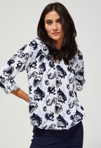 Bluzka Moodo z długim rękawem z dekoltem w kształcie litery v