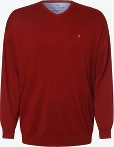 Czerwony sweter Fynch Hatton w stylu casual