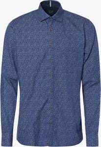 Niebieska koszula Olymp Casual Modern Fit z bawełny z długim rękawem