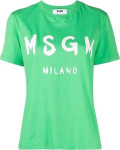 T-shirt MSGM z krótkim rękawem z okrągłym dekoltem