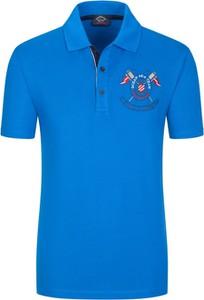 Niebieska koszulka polo Paul & Shark z krótkim rękawem z bawełny