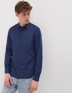 Niebieska koszula Sinsay z klasycznym kołnierzykiem