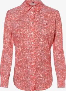 Pomarańczowa bluzka Tommy Hilfiger w stylu casual z kołnierzykiem