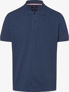 Niebieska koszulka polo Mc Earl z bawełny z krótkim rękawem