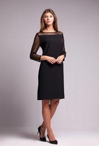 Czarna sukienka Risca z długim rękawem