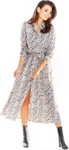 Sukienka Awama maxi szmizjerka w stylu casual